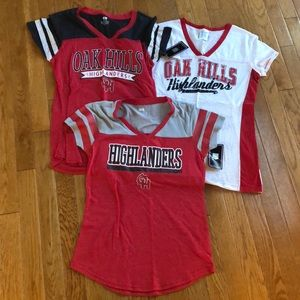🌻🌻Oak Hills Highlanders t shirts bundle of 3 NWT